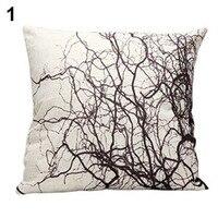 HOT Vintage Branches Cotton Linen Pillow Case Sofa Throw Cushion Cover Home Decor 91QV