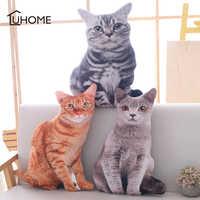 Kawaii Simulation Plüsch Katze Kissen Weiche Angefüllte Puppen Spielzeug Cartoon Tier Kissen Sofa Bett Decor Schöne Plüsch Spielzeug für Kinder geschenk