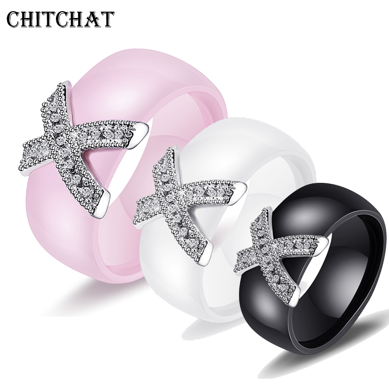 Aliexpress Com Buy 8mm Ceramic Couple Rings For Woman