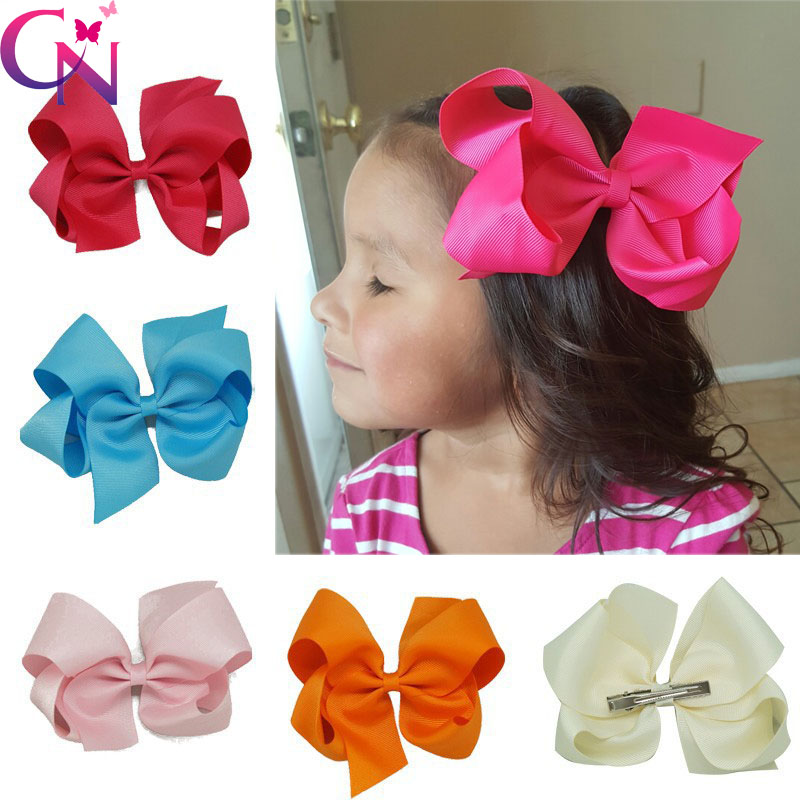 32 Pieces Lot 6 Ribbon Hair Bows With Hair Clips For Kids Girls