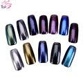 1g 12 del Color Sólido de Uñas Espejo Del Brillo Shinning Polvo Del Polvo de Uñas de Arte Glitters DIY Pigmento de Cromo de JH420