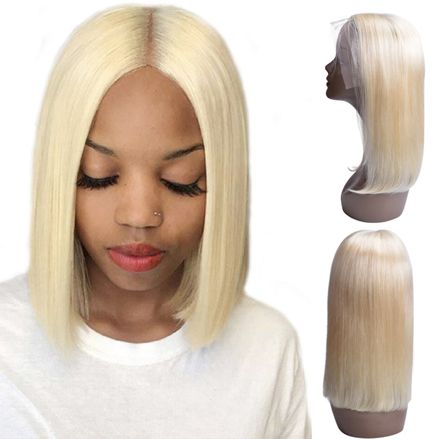 1B Blonde Lace Front Wig Ombre Brazilian Straight Wig Remy Ombre 613 Lace Front Human Hair Wigs For Black Women Middle Part