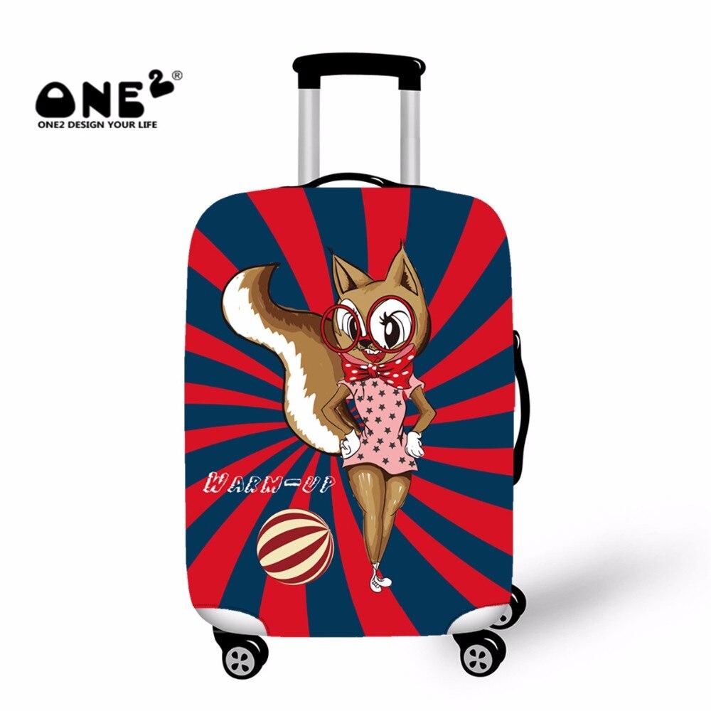d70fed994 2017 ONE2 Diseño maleta equipaje ruletas personalizadas cubierta eminentes  se aplican a 22,24, 26 pulgadas maleta trolley equipaje cubre en Accesorios  de ...