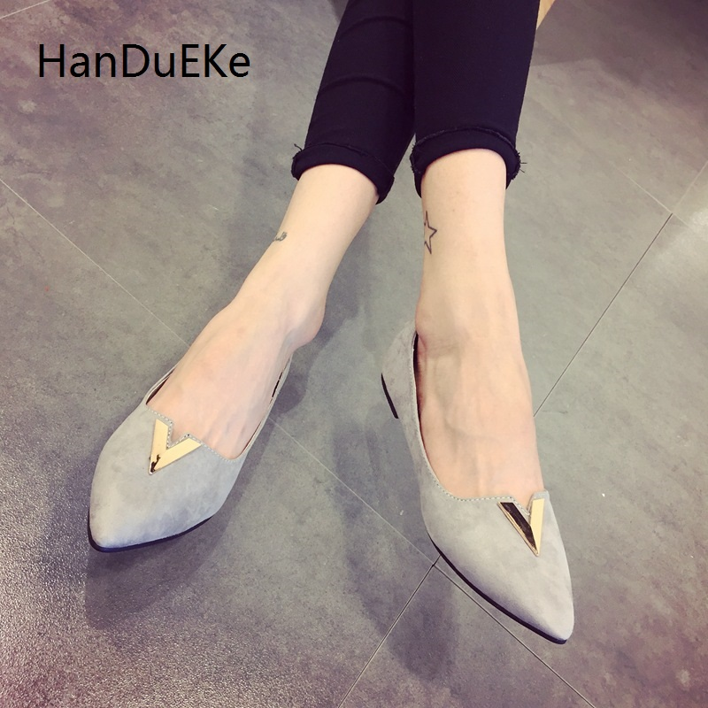 Free shipping Ballet Flats 2017 Sexy Shoes Woman Slip On Summer Loafers Pointed Toe Women Flat Shoes 2 Colors Size 35-41 2017 summer new fashion sexy lace ladies flats shoes womens pointed toe shallow flats shoes black slip on casual loafers t033109