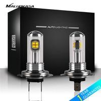 MALUOKASA 2PCs Car Headlight H4 LED Fog Light H1 H3 H7 H8 H11 H16 9005 9006