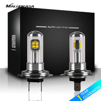 MALUOKASA 2PCs Car Headlight H4 LED Fog Light H1 H3 H7 H8 H11 H16 9005 9006