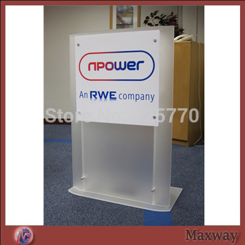 Church Acrylic Podium/Acrylic Frosted Glass Removable Lectern Detachable Church Lectern Pulpit Church Podium