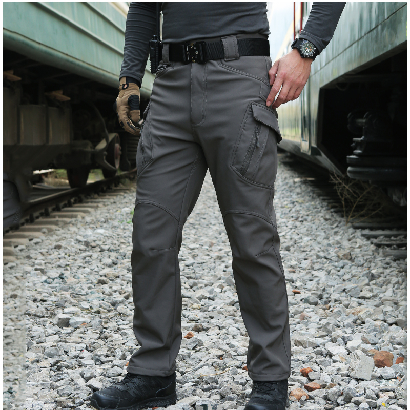 Professional Men Winter Waterproof Fish Tactical SoftShell Hiking Military Pant Man Army Hunt Camp Trouser Climb Trekking Fleece