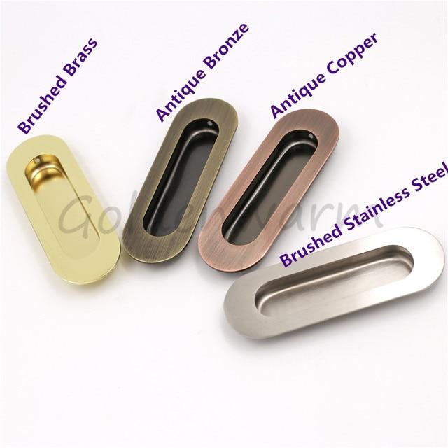 goldenwarm flush pull recessed handle drawer pulls sliding door oval
