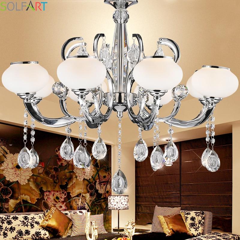 Solfart crystal chandelier branch chandelier lighting k9 for Wohnzimmerlampen modern
