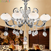TD8012 GENESIS LIGHTING Chrome Glass Shade Modern European Crystal LED Small Chandelier 6 Lamps 8 Lamps