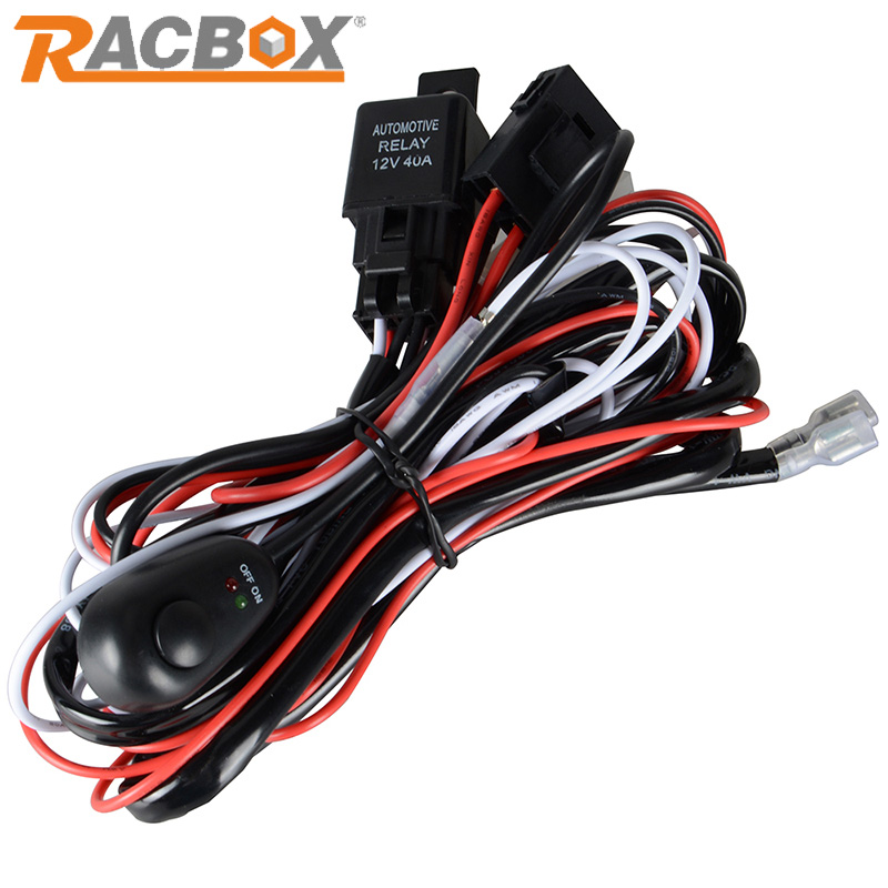 jeep wrangler light bar wiring harness reviews online shopping racbox wire relay harness kit 2m for 100w 72w 36w 108w 27w 48w led light bar led work light for off road atv jeep pickup truck