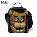 FORUDESIGNS Trendy Five Nights at Freddys Lunch Bag for Baby Kids Insulated Lunch Box Thermal Picnic Children Food Bag Bolsa