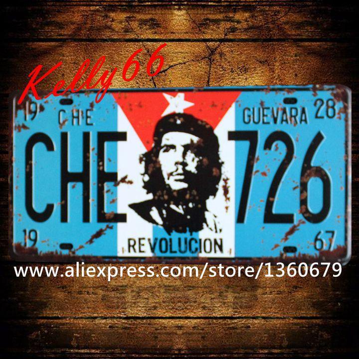 ᗑ[Kelly66] 30*15 cm vintage Marcos de matrícula pared signos poster ...