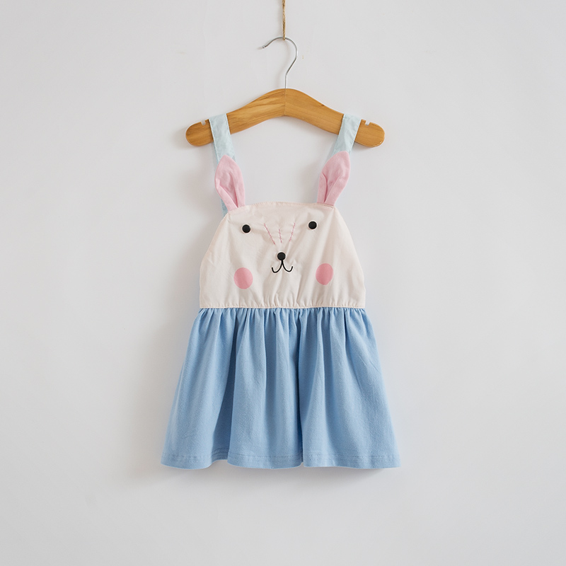 Mother & Kids 2018 Summer Baby Clothes Girls Overalls Cute Rabbit Dresses Toddler Girl 3d Bunny Dress Infant Children Clothing 1 2 3 4 5 Years