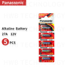 5 шт. Panasonic 27A A27 12 В аварийно-удаленные сухие щелочные батареи 27AE 27MN Высокая емкость автомобиля дистанционного игрушки калькулятор двери