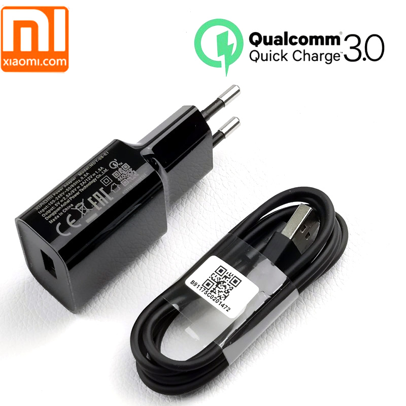 Clever Original/genuine Xiaomi Mi 8 Charger Qc 3.0 Fast Charge Eu Power Adapter Usb Cable For A2 A1 Se 6 6x Mi8 Mi6 Mi5s Mix 2 2s 3 Max Complete Range Of Articles