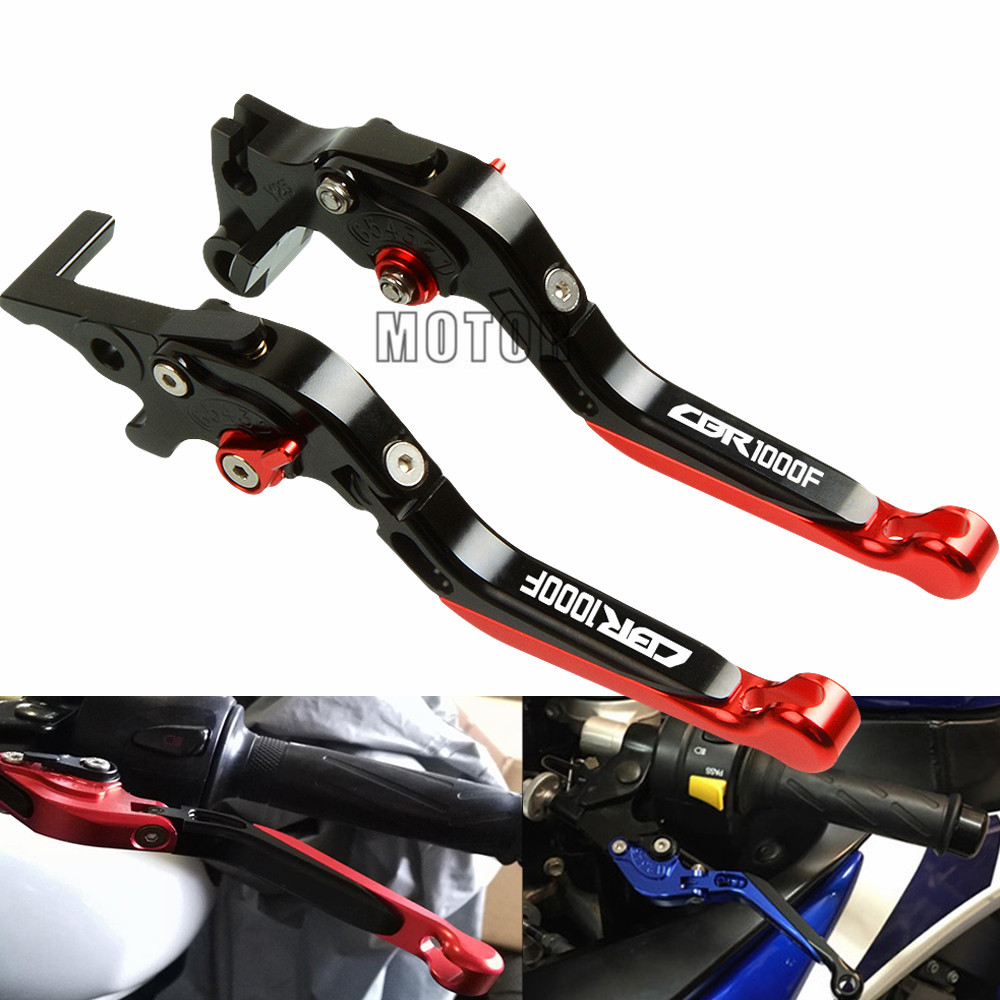 CNC For <font><b>Honda</b></font> <font><b>CBR1000F</b></font> SC24 CBR 1000F 1993-1998 Motorcycle Adjustable Folding Extendable Brake Clutch Levers Motorbike Parts image
