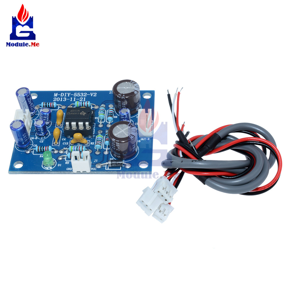 NE5532 OP-AMP HIFI Preamplifier Signal Amplification Board Bluetooth Pre-Amp Diy Kit Elect