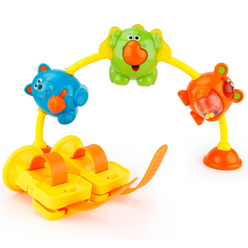 Music Toys Baby 18 Months+ Tasteless Comfortable Hand Feeling ABS Plastic Animal Music Toys Kids Improve Hearing Vision Ability