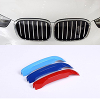 For BMW X1 F48 2016 2017 Accessories ABS Front Grill Trim Decoration Sport Stripes Emblems 3D