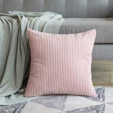 1 PC Corduroy Soft Soild Decorative Square Throw Pillow Covers Set Cushion Cases Pillowcases for Sofa Bedroom Car цены