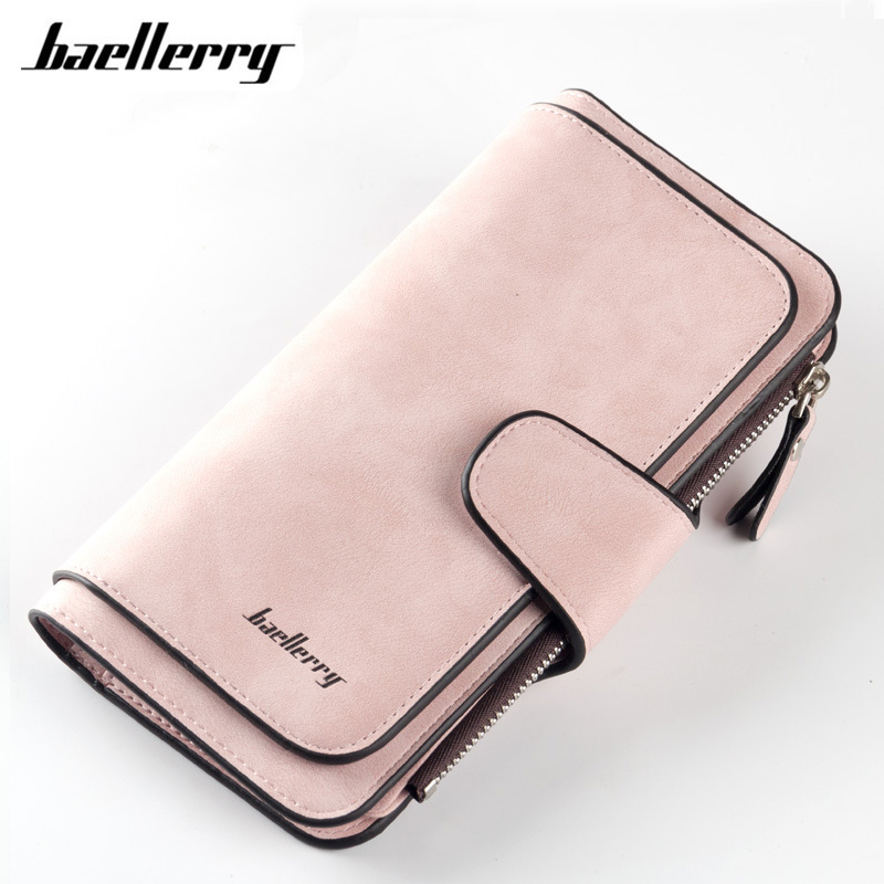 Women Wallets Hasp Zipper Design Card Holders Girl Purse Solid Long Clutch High Quality Ladies Leather Wallet Female 6 Colors laamei women wallets ladies long design hasp zipper purses clutch change coin card holders carteras female wallet pu leather