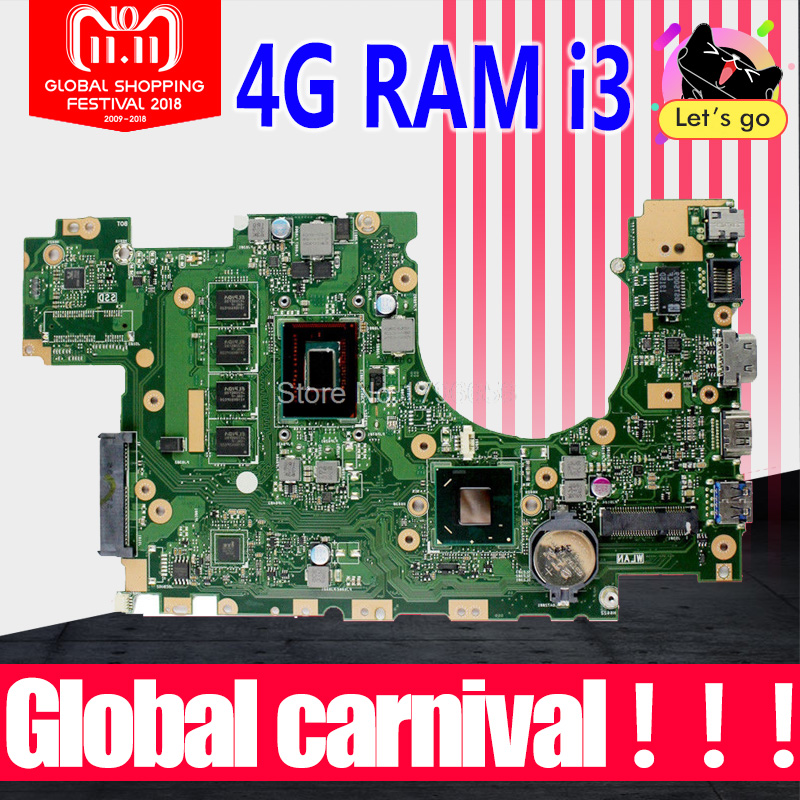 X402CA Motherboard 4G RAM i3 For ASUS X502CA X402CA X402C laptop Motherboard X402CA Mainboard X402CA Motherboard test 100% ok for asus x502ca laptop motherboard x402ca rev2 1 with 847cpu 4g mainboard fully tested