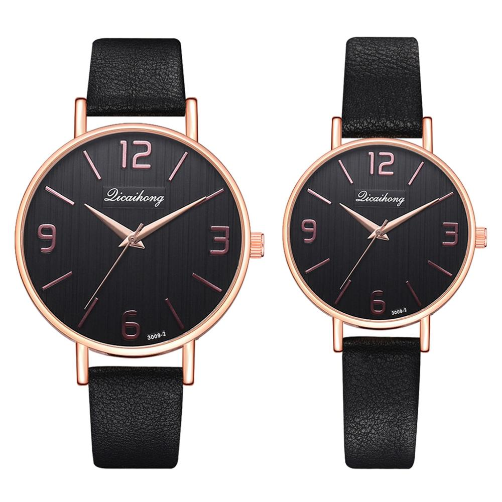 Couple Watch 2pcs Set Top Brand Fashion Women Men Lovers Sports Leather Watch Female Male Clock Quartz Watch For Lovers Gift