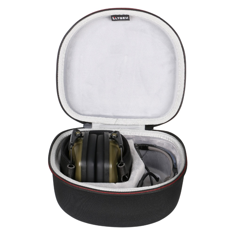 LTGEM Case For Both Howard Leight By Honeywell Or Awesafe GF01 Impact Sport Earmuff And Genesis Sharp-Shooter Safety Eyewear Gla