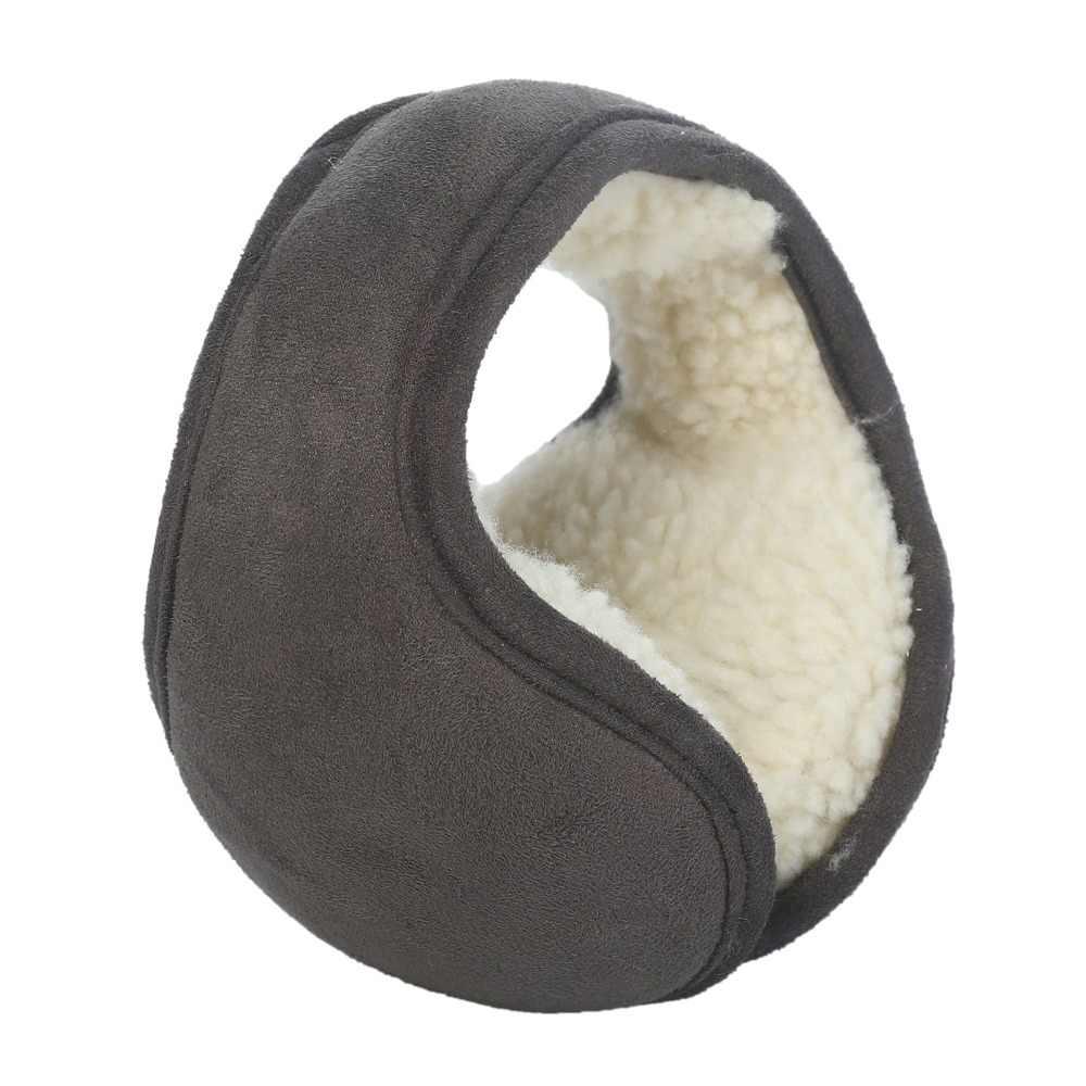 冬のイヤーマフ女性折りたたみ耳マフ着用スエードベルベット耳ウォーマー暖かいぬいぐるみ耳介調節可能な耳カバー Earbag
