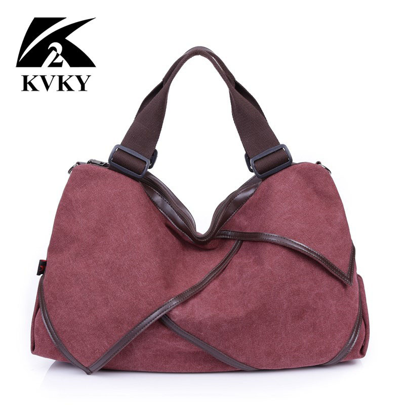 KVKY patchwork high-capacity women bags handbag canvas women bags famous brand designer lady shoulder messenger bag casual tote fashion patchwork canvas shoulder bag handbag women lady colorful messenger crossbody bags for women casual tote bag female 1208