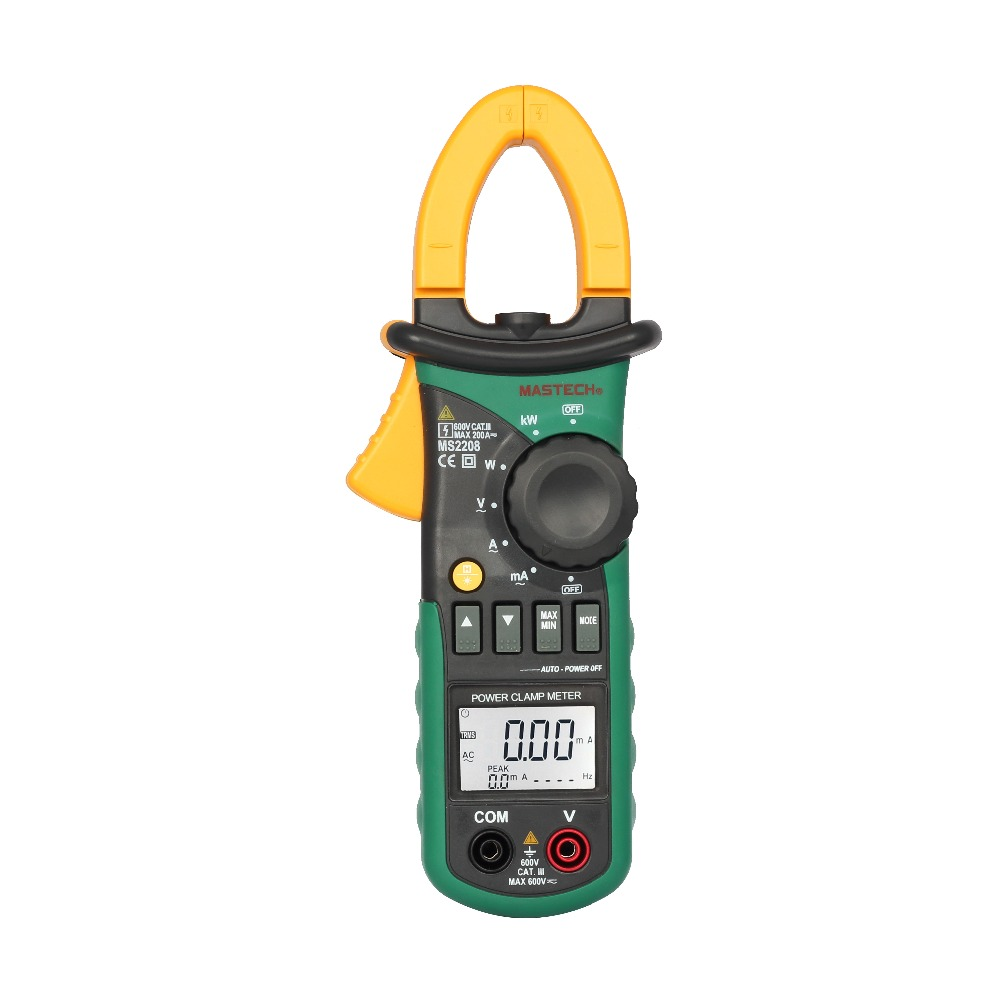MATECH MS2208 Harmonic Power Clamp Meter Tester Multimeter Trms Voltage Current Power Phase Angle Test