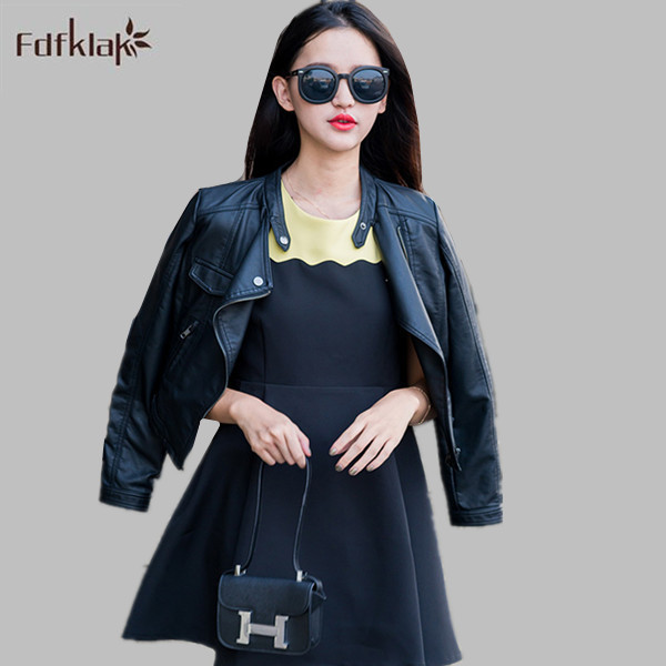 de8ad50da0f Plus Size Leather Jacket women Brand Short Pu Leather Jacket Women s Slim Motorcycle  Jackets Coat Female Zipper S-3XL E0583