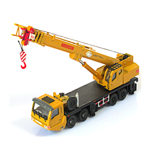 Image 2 - 1:55 Mega Lifter Alloy Diecast Model with 4 Front Wheel Steering Linkage 360 Degree Rotate Work Platform Crane Children Gifts