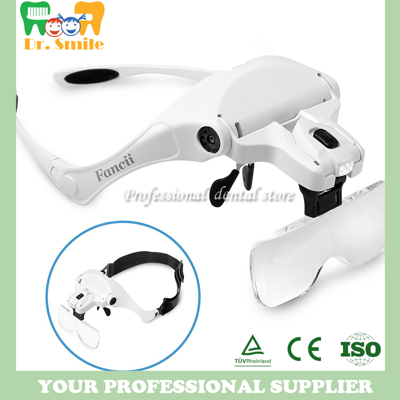 Mask type Dental LED Magnifier Intraoral dental Loupe instruments lighting Magnifier headlamp with 5 magnifications op7 6av3 607 1jc20 0ax1 button mask