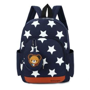 2020 Children Character Backpack Rucksack School Bag Personalised Star Pattern Zipper Kid Book 4 Colors New 2