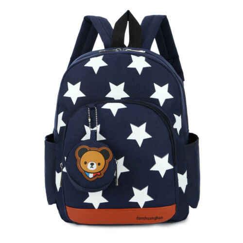 2019 Children Character Backpack Rucksack School Bag Personalised Star Pattern Zipper Kid Book Bag 4 Colors New
