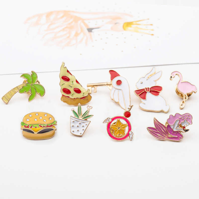 fashion lovely girl brooch Tong qu cute cartoon slippers/gestures/glass /cat/chicken leg brooch pin