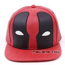 Hombres diseño creativo Snapback Cap X-MEN Deadpool cuero sombrero de béisbol  ocasional Bboy Hip Hop gorras a813693d2ef