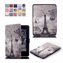 Women's Stylish Leather Book Cover with Colorful Pattern for Kindle