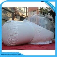 5X3 M En Plein Air Tente de Pelouse Gonflable Clair 0.6mm Transparent PVC Et 0.6mm PLATON Bâche PVC Gonflable Transparent Bulle Tente