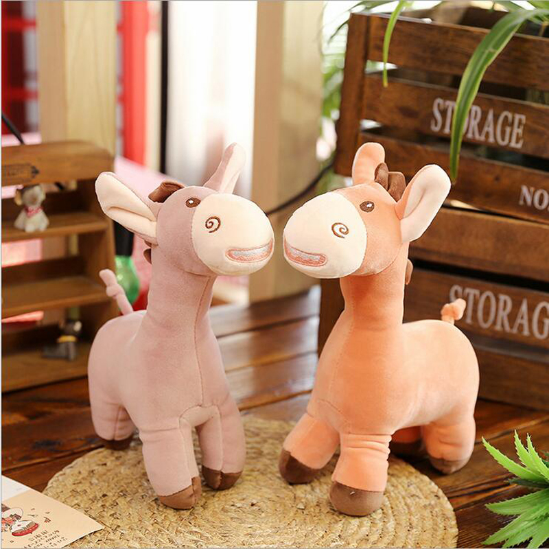 New Style Lovely Funny Donkey Plush Toys PP Cotton Stuffed Animal Donkey Plush Doll Toy Children Gift Baby Toys in Stuffed Plush Animals from Toys Hobbies