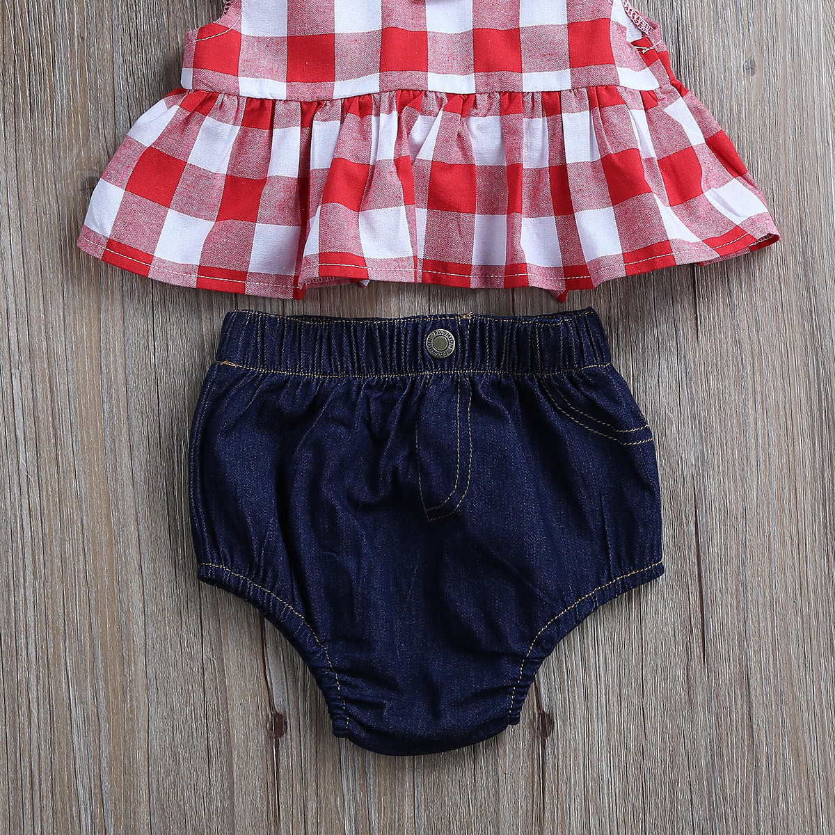 Tops-Sleeveless-Plaid-T-Shirts-Jeans-Shorts-Headband-Kids-Clothing-Outfits-Infant-Kids-Baby-Girls-Clothes-Sets-Outfit-Sleeveless-4