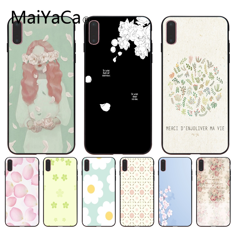 Half-wrapped Case Well-Educated Maiyaca Nice Flower Petals Novelty Fundas Phone Case Cover For Iphone 8 8plus And 7 7plus 6s 6s Plus 6 6plus 5s Cellphones Phone Bags & Cases