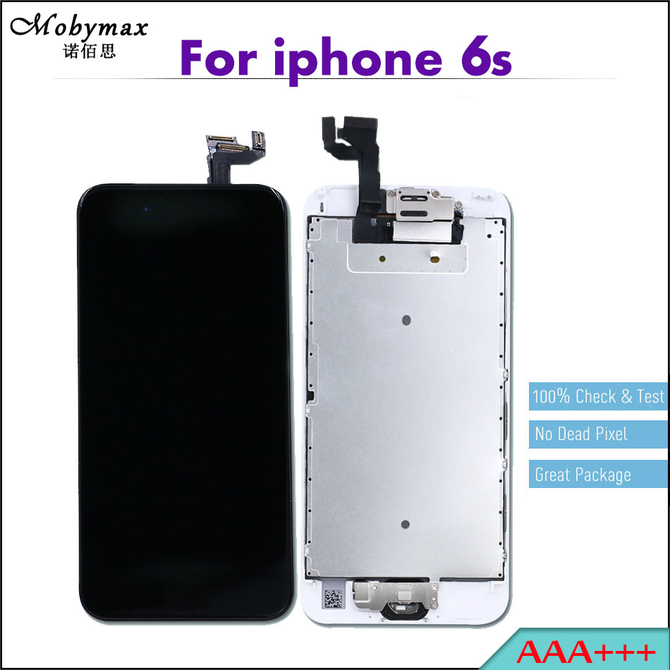 3PCS AAA+++ Capacitive LCD For iPhone 6S 4.7 Full Assembly Touch Screen Digitizer Display+Home Button+Front Camera for apple 6s