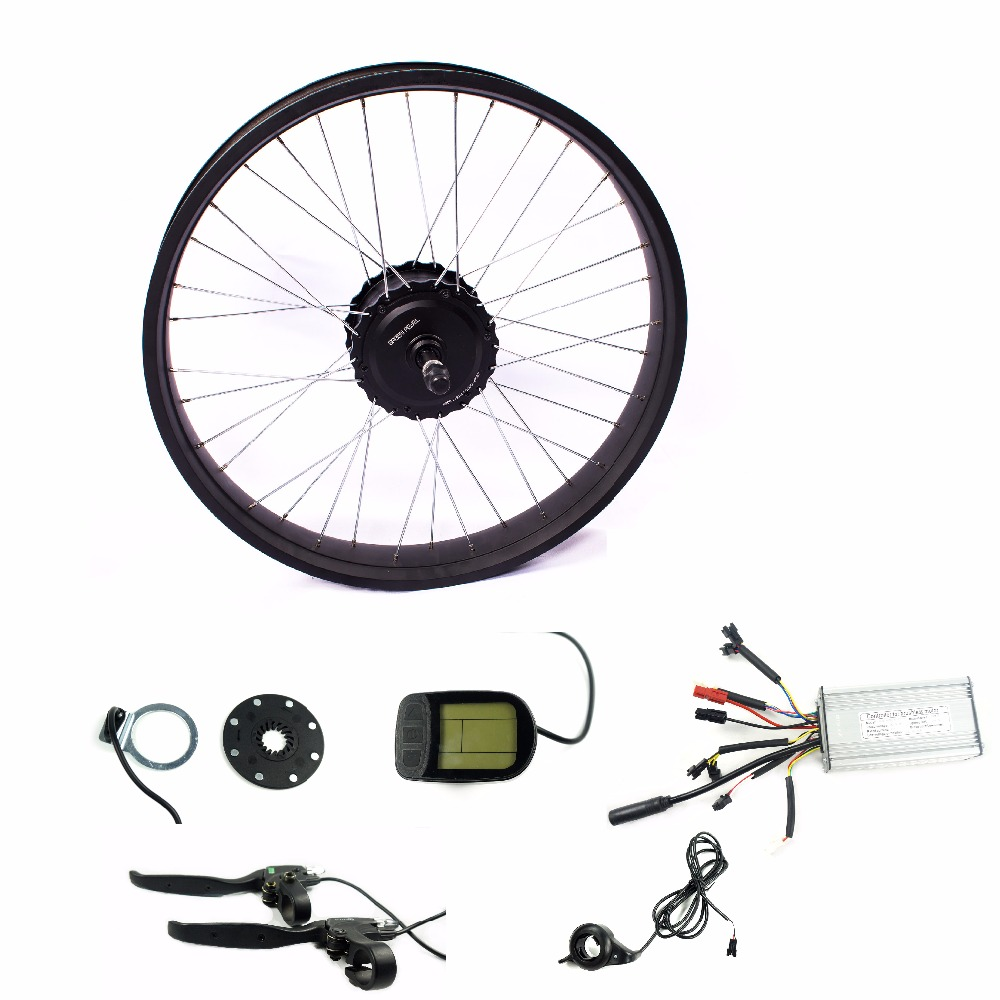 Okfeet 48V500W fat / snow bike bicicleta conversion kit 26 27.5 28 700c rear rotate / Cassette motor wheel hub LCD