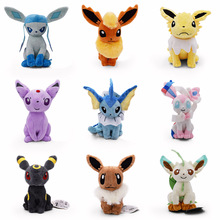 New Eevee Plush Toys 9 styles Umbreon Eevee Espeon Jolteon Vaporeon Flareon Glaceon Leafeon Sylveon Soft Stuffed Animals doll