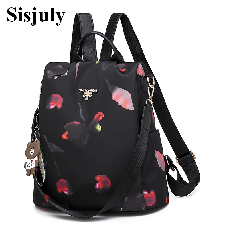 Sisjuly Fashion Multifunction Backpack Women Oxford Backpacks Female Anti Theft Backpack New Schoolbag for Girls Travel Backpack