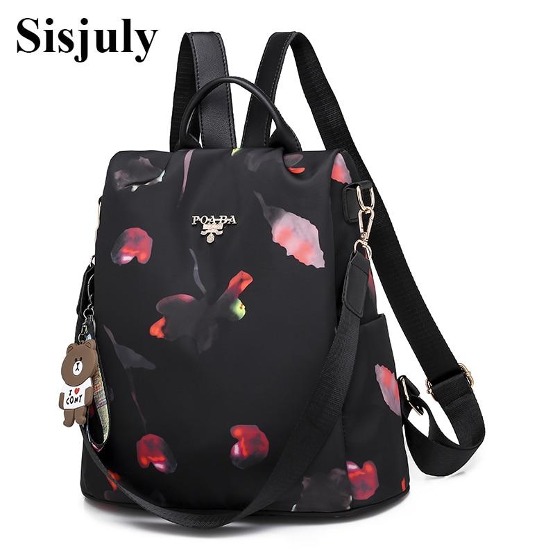 Sisjuly Fashion Multifunction Backpack Women Oxford Backpacks Female Anti Theft Backpack New Schoolbag for Girls Travel Backpack